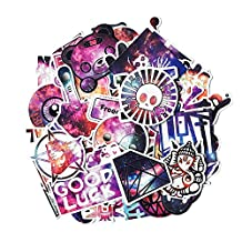Cool Starry Sky Sticker Pack [50 Pcs],Graffiti Sticker Decals Vinyls for Laptop,Cars,Motorcycle,Bicycle,Skateboard Luggage,Bumper Stickers Hippie Decals bomb Waterproof
