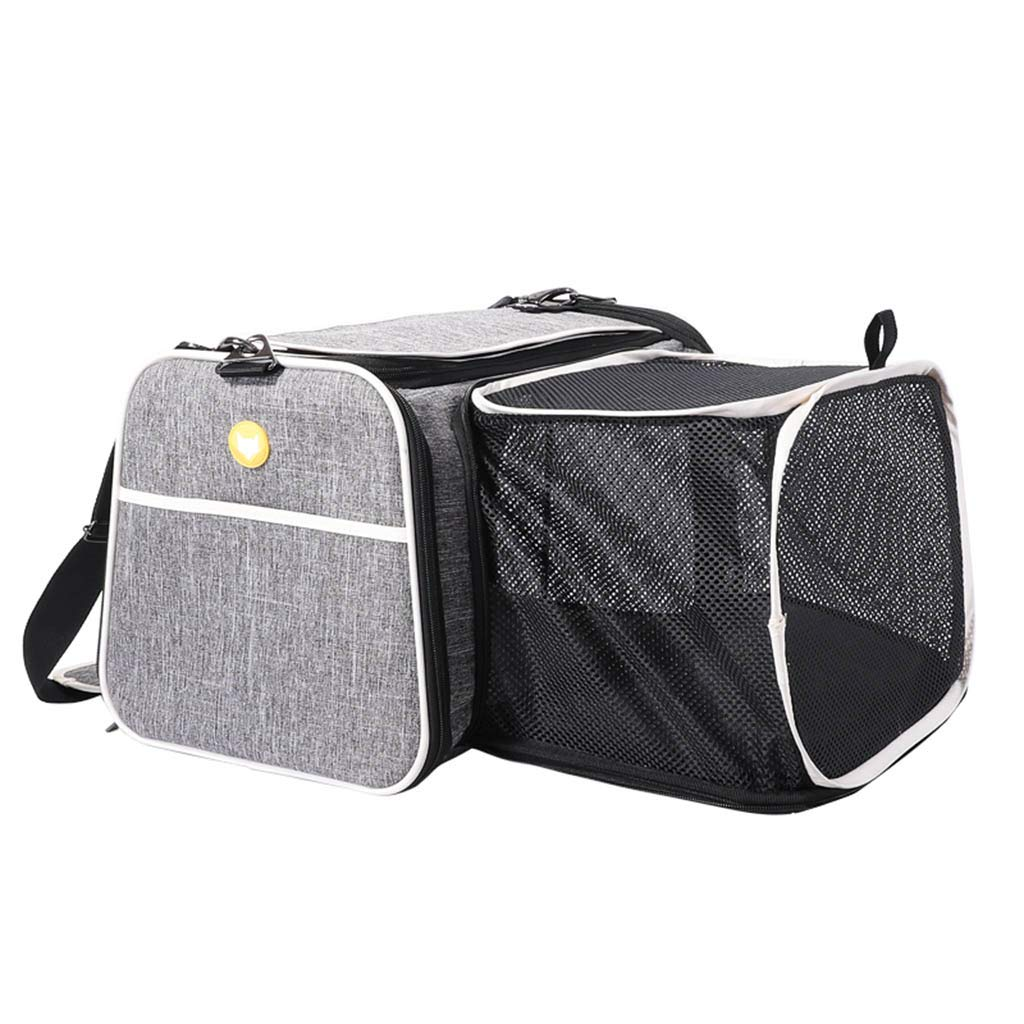 L MEIHAO Expandable Pet Carrier Dog Carrier Cat Carrier Travel Handbag with Plush pad and Extension for Small Breed Dogs Cats