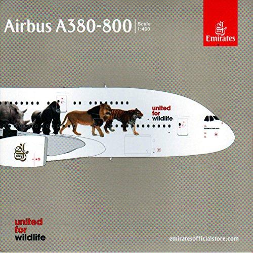1/400 エミレーツ航空 Wildlife #1 A6-EEI A380-800 GJUAE1550