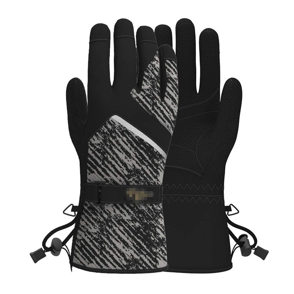 Zyyaxky Handschuhe Männer Outdoor-Sport Skifahren Rutschfeste Tragbare Touchscreen Winddicht Wasserdicht Null Warm Multi-Funktion, B