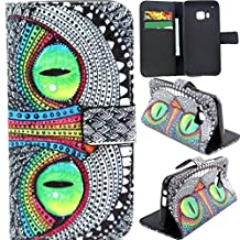 M9 Case,HTC One M9 Case,Gift_Source HTC One M9 Wallet Case [Stand Feature] Magnetic Snap Case Wallet [Wallet S] Premium Wallet Case Flip Case Cover Skin for HTC One M9 -Owl Pattern ,Sent Screen Protector + Stylus Pen