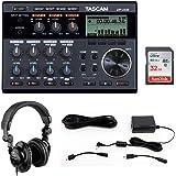 Tascam DP-006 6-Track Digital Pocketstudio with Tascam PS-P520E AC Power Adapter, Polsen HPC-A30 Headphones & 32GB Memory Car