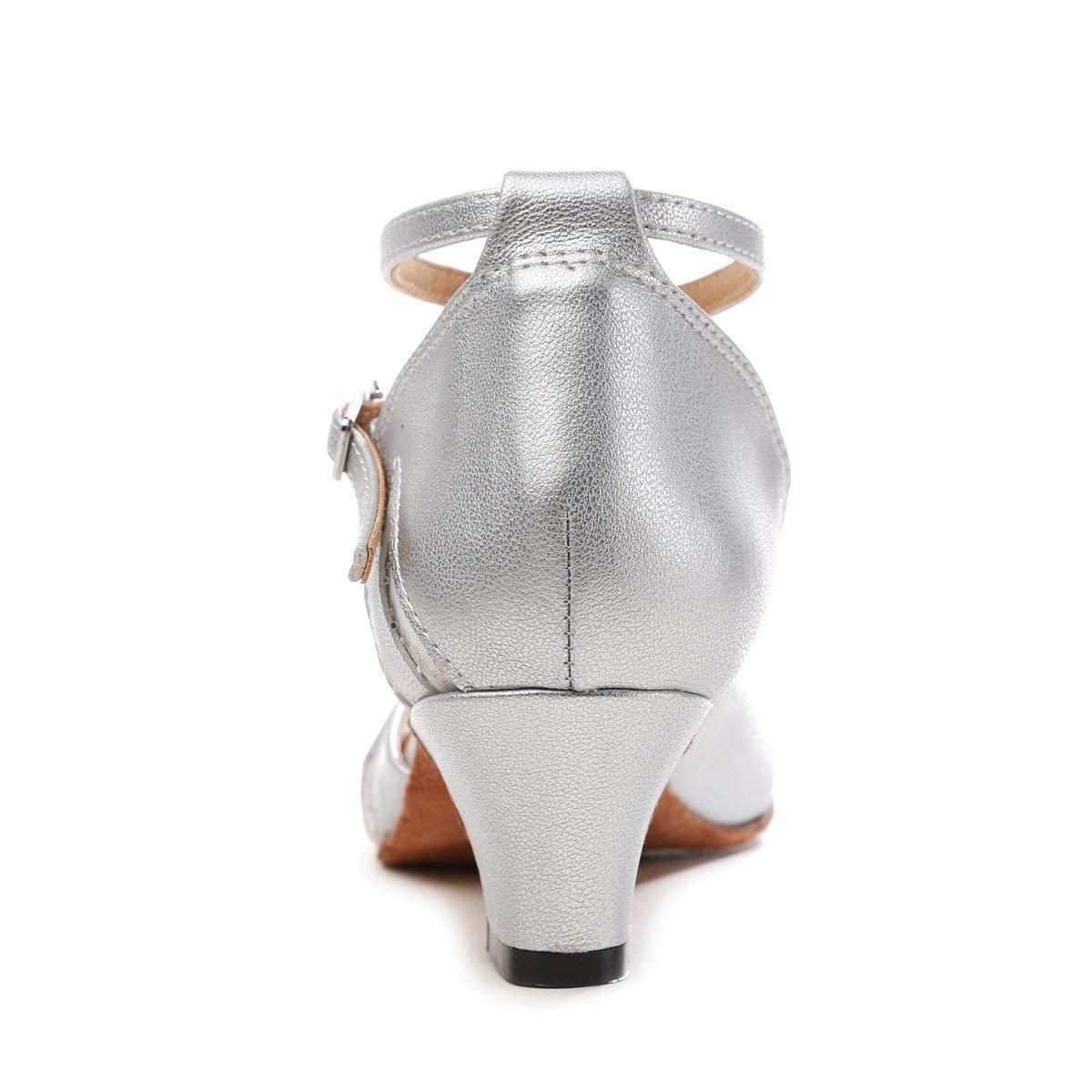 Qiusa GL261 Frauen Geschlossene Zehe Silber Mesh Mesh Mesh Synthetische Salsa Latin Dance Schuhe Party Pumps UK 4,5 (Farbe   - Größe   -) c8b2c7
