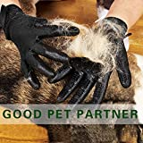TUXWANG Pet Grooming Gloves, Pet Hair Remover Glove for Shedding Hair, Bathing, Grooming, Combing and Massage, Perfect for Cats, Dogs, Horses, Livestock, Small Pets with Long & Short Fur