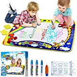 """Jakoghii Water Doodle Mat, Kids Toys Aqua Drawing Mat Large Painting Writing Coloring Pad 4 Magic Pens for Toddlers Kids, Educational Toy Boys Girls Birthday Gift - Size 34.5"""" x 22.5"""""""