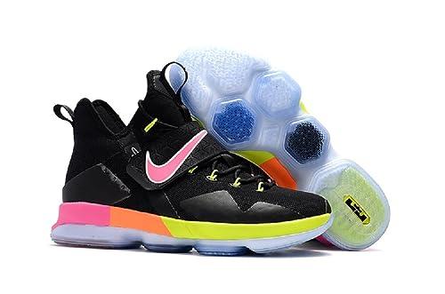 ... yellow b56e5 e5e8f  australia 2018 nike lebron james black and pink 14  nba basketball sneakers 7 black 74fda fb41c 65dbc0744