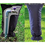 Bymlt- 2 pcs Sumind Faucet Cover Outdoor Faucet Socks, 20 by 8.5 Inch (Black)