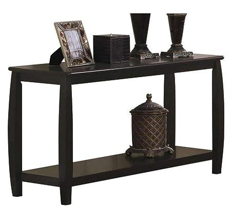 Marina Sofa Table with Shelf Cappuccino