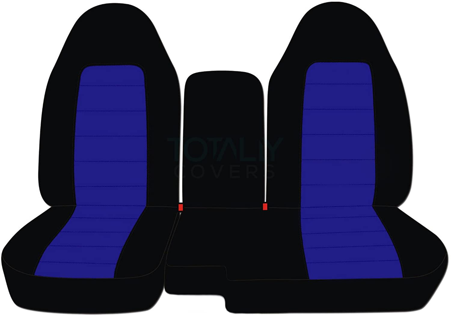 2005 2006 2007 2008 2009 2010 2011 60//40 Split Bench 21 Colors Totally Covers Fits 2004-2012 Ford Ranger//Mazda B-Series Two-Tone Truck Seat Covers with Center Console//Armrest Cover: Black /& Brown