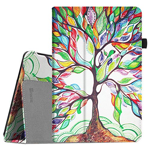 Fintie Dragon Touch X10 2017 Edition Tablet Case, Premium PU Leather Folio Cover with Stylus Holder for Dragon Touch X10 2017 Edition / IVIEW-1070TPC-II 10.1-Inch Android Tablet, Love Tree