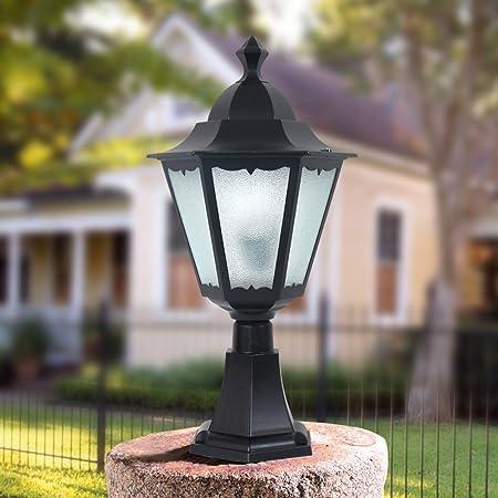 Hines Jardín Europeo Linterna de Cristal Bola Poste de la calle Lámpara de columna Victoria Muro