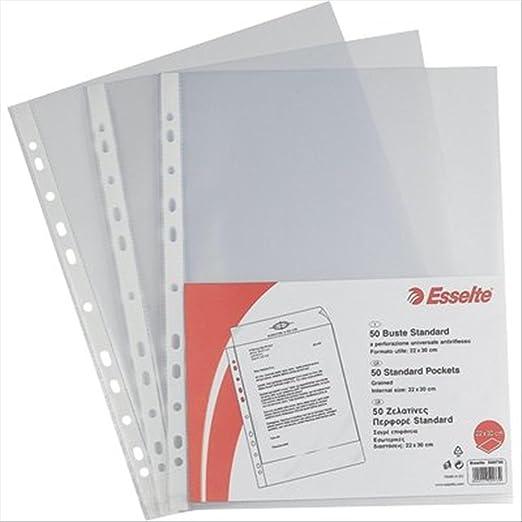 10 opinioni per Esselte 395697300 Copy Safe Buste a Foratura Universale, Standard 22 x 30 cm,