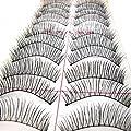 Nails gaga 10 Pairs attractive Black Stems False Eyelashes Criss-Cross Makeup Eye Lashes