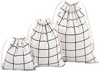 Namgiy 3x cordino sacchetti cotone Travel shoe Bags sacchetto Essential Stuff antipolvere borse bagagli tasca organizer per vestiti viaggio casa