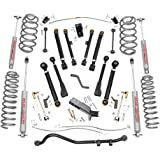 Rough Country 66130 - 4-inch X-Series Suspension Lift System w/ Premium N3 Shocks for Jeep: 97-06 Wrangler TJ 4WD, 04-06 Wrangler Unlimited LJ 4WD