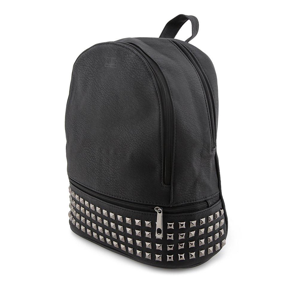 b0cc6a959a Zaino TWIG Roy donna pelle vegan nero con borchie: Amazon.it: Abbigliamento
