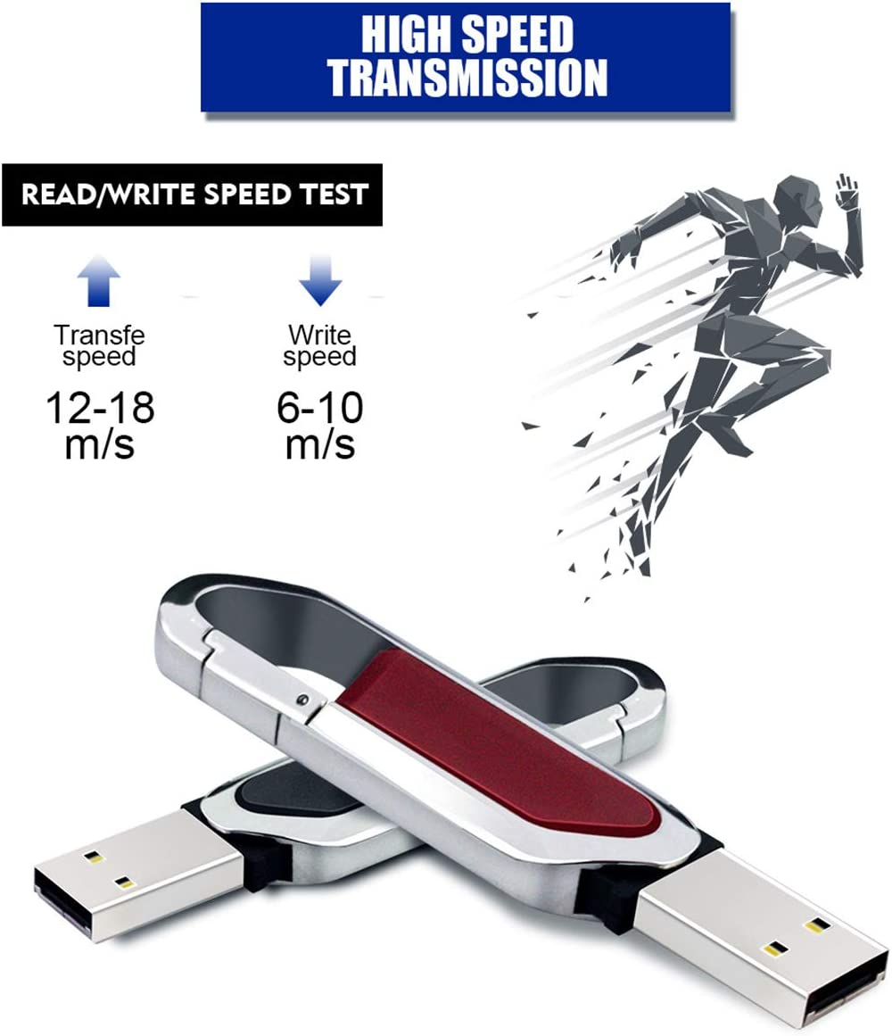 16GB//32GB//64GB//128GB Memory Stick Transfe Speed 12-18 M//S Swivel Key Ring Hooks Design//for Data Storage LJ2 USB 2.0 Flash Drives