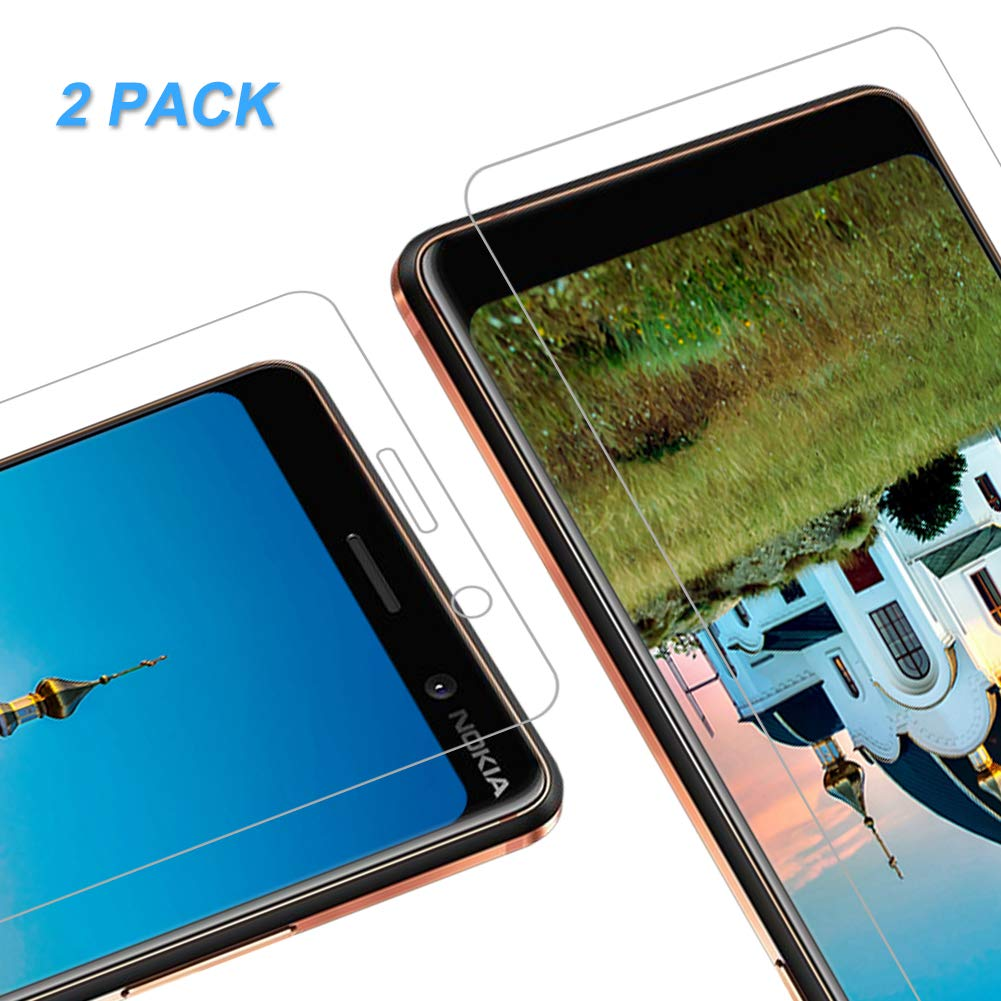Protector de Pantalla para Nokia 7 Plus, Cristal Vidrio Templado Premium [2.5d Borde] [9H Dureza] [Sin Burbujas] para Nokia 7 Plus, 2 Unidades