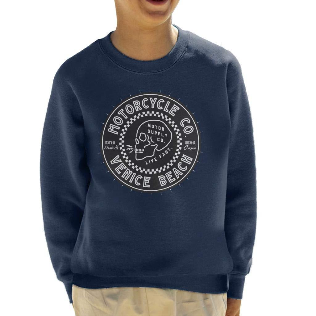 Divide /& Conquer Venice Beach Motorcycle Co Kids Sweatshirt