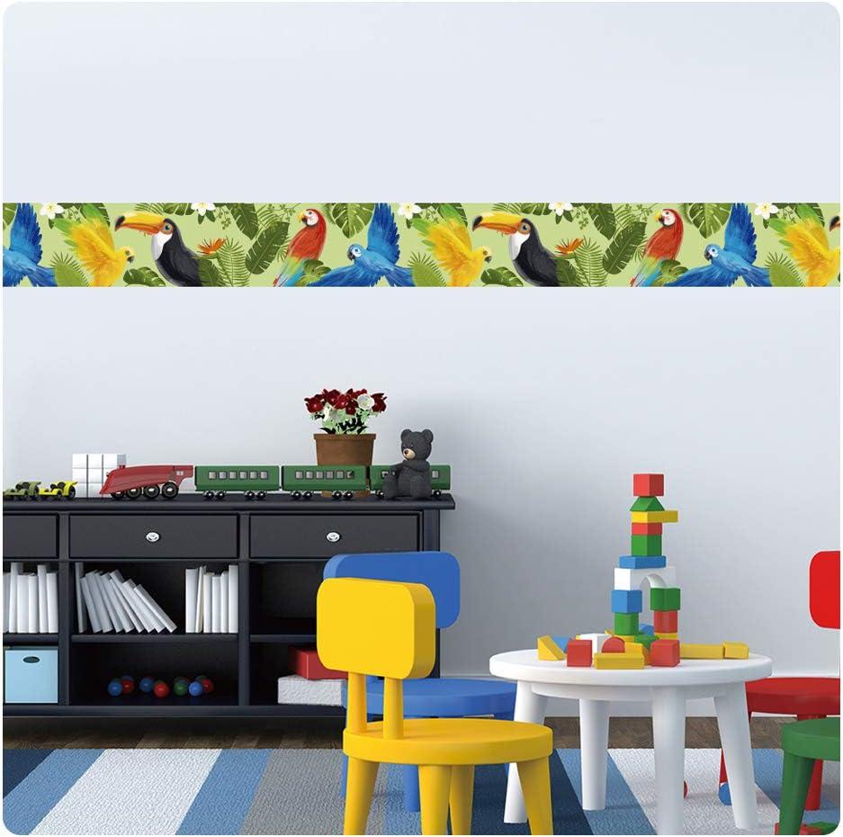 Unicorn setecientosgramos Cenefa Auto-Adhesiva 5 m x 15 cm Decoraci/ón de Pared Infantil