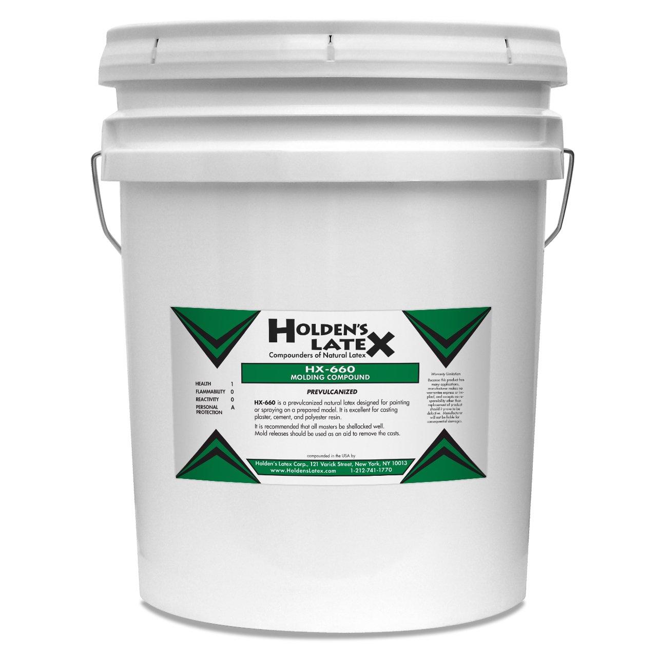 HX-660 Natural Liquid Latex Mold Making Rubber (5 Gallon Pail)