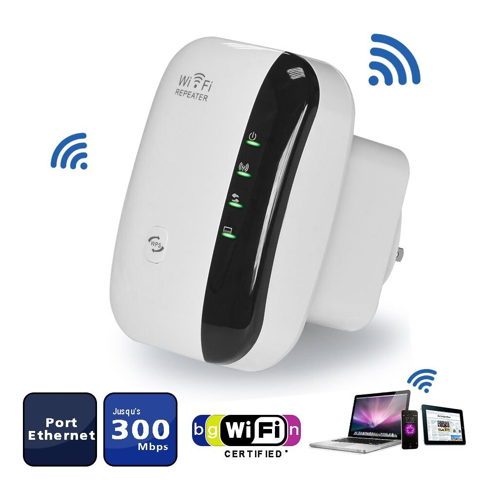 MakeTheOne 300Mbps Wireless WiFi Repeater/Extender/AP/WI-FI Signal Range Amplifier/Booster, Mini 2.4G Portable WiFi Signal Range Extender with WPS for Router Home by M MAKETHEONE