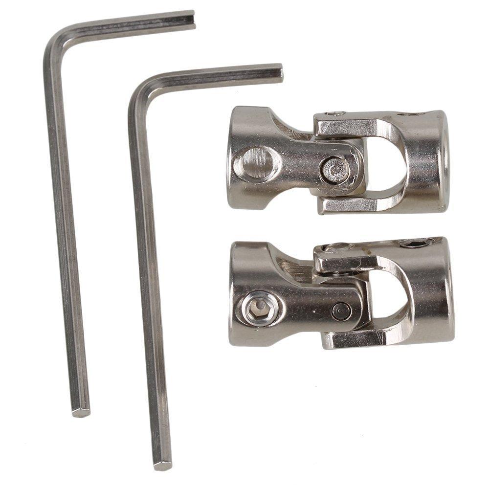 cnbtr 6/x 6/mm Silber Modell Boot Auto Schaft Kupplung Motor Stecker Universal Gelenk Kupplung 2/St/ück