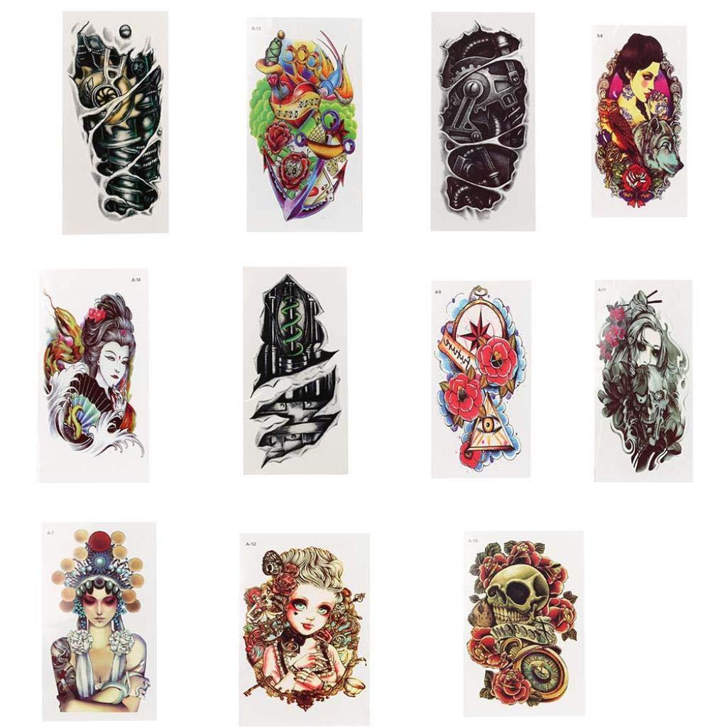 Amazon.com: Pegatinas de tatuaje para Halloween Exteren, con ...