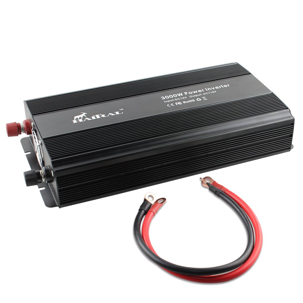 3000W Power Inverter Modified Wave,HAITRAL Volt DC to 110 Volt AC Car Inverter Charging Adapter Converter