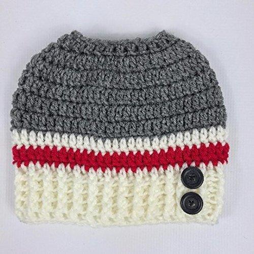 Amazoncom Messy Bun Hat Sock Monkey Design Handmade