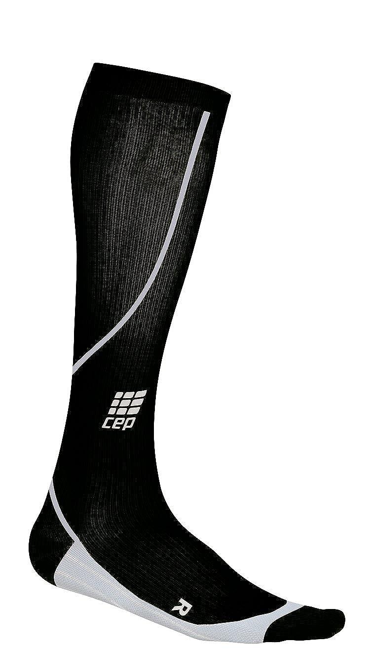 CEP Compression WP41533 CEP Womens Running Progressive Compression Socks - Size- III -12.5-15 in. calf, Color- Black