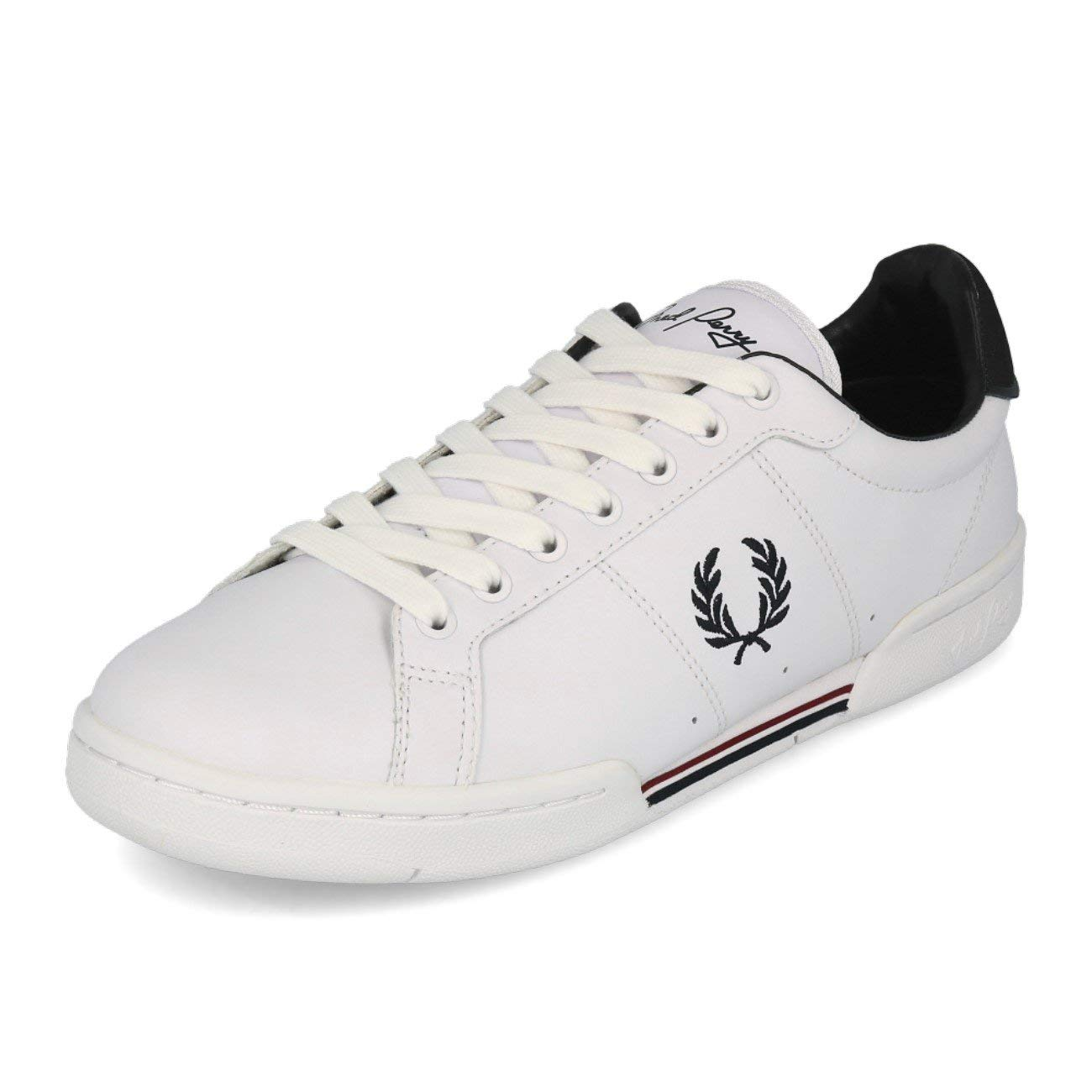 - Fred Perry Men's shoes Leather Trainers Sneakers B7222 White