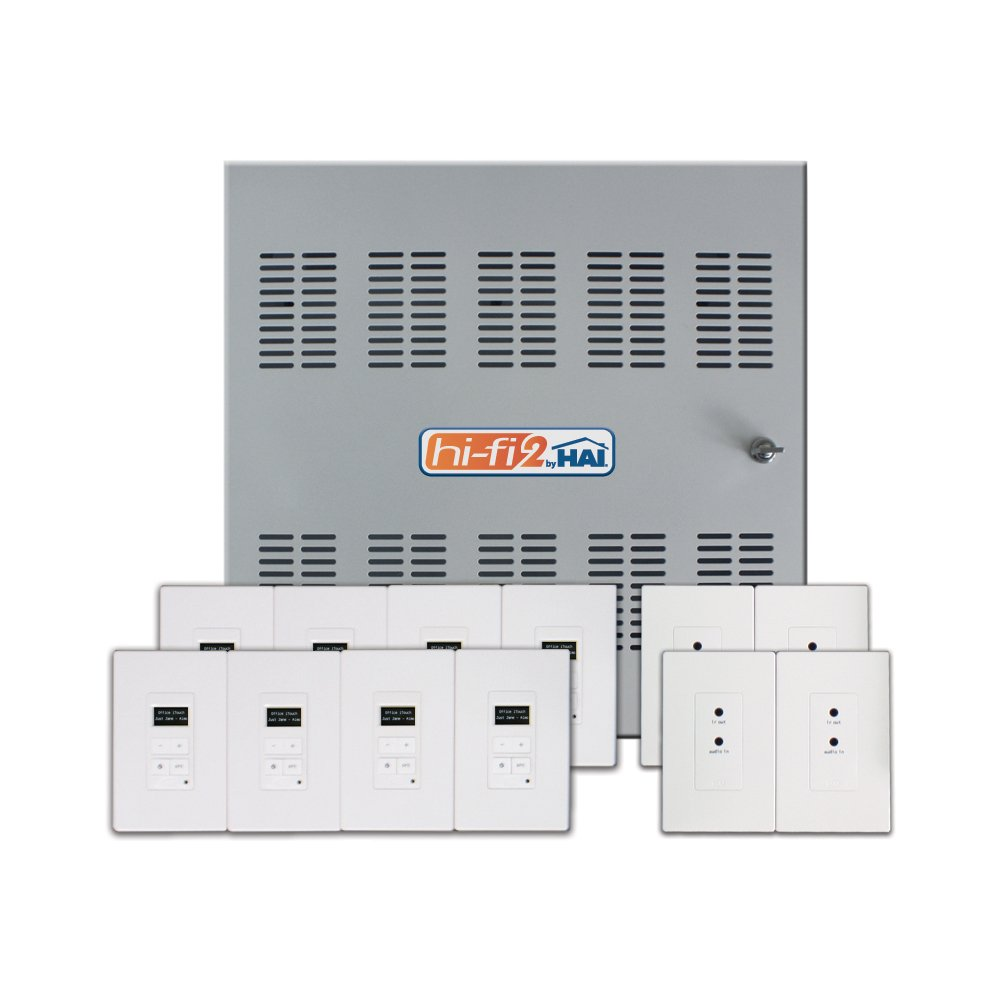 Leviton 95a00 1 Hi Fi 2 8 Zone Source Distributed Audio System In Structured Wiring Whole Home Enclosure Temperature Sensors