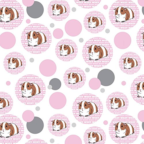 Premium Gift Wrap Wrapping Paper Roll Pattern - Animals - Guinea Pig Pet Pink