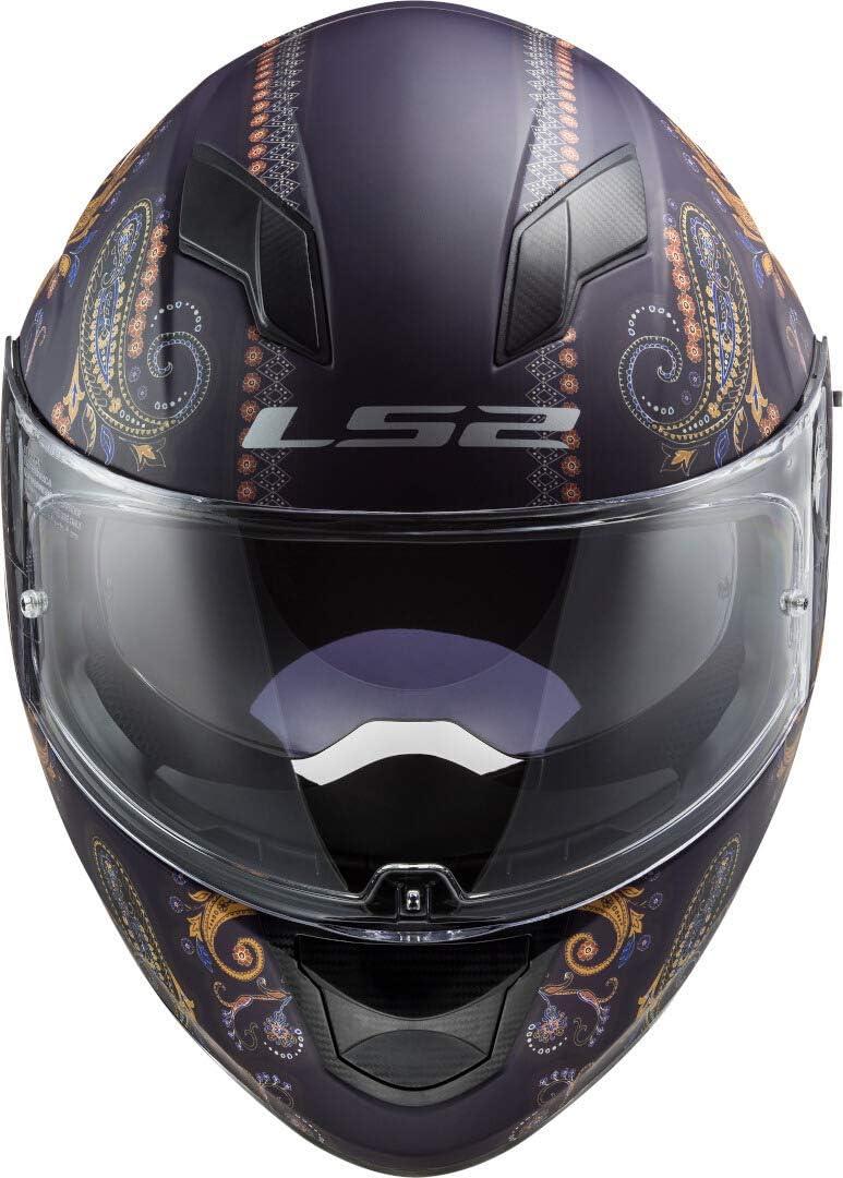 Motorcycle helmets LS2 FF320 STREAM EVO PASLY MATT Purple Black//Purple XS