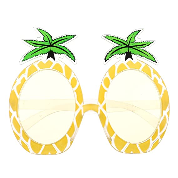 Talking Tables Tropical Party Lunettes de Soleil Ananas pour Fête Estivale ou Luau Hawaïen, Multicolore