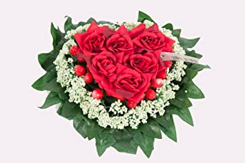 Tischdekoration Rote Rosen Herz Hochzeit Tischaufleger Amazon De