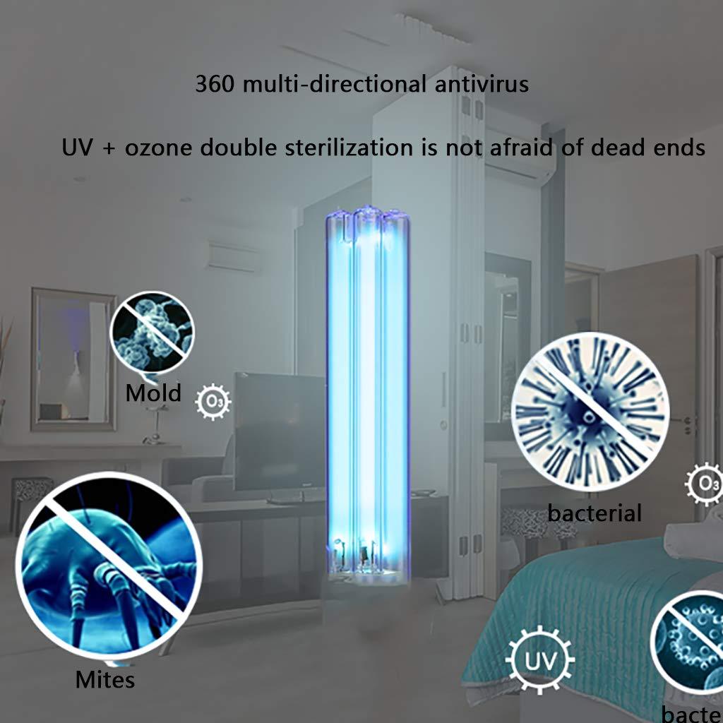 L/ámpara Germicida Compacta L/ámpara De Desinfecci/ón UV para El Hogar Matar Los /Ácaros del Polvo Bacteriano Eliminar El Olor L/ámpara Esterilizadora De Aire