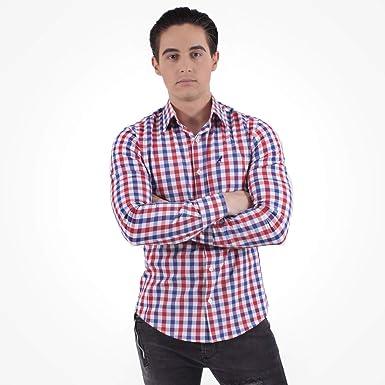 eb35432020866 Camisa Xadrez Masculina Slim Social 200110  Amazon.com.br  Amazon Moda