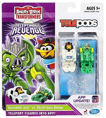 Hasbro, Angry Birds Transformers Telepods Autobird Jazz Bird vs. Deceptihog Brawl Pig Figure 2-Pack [Deceptihogs Revenge]