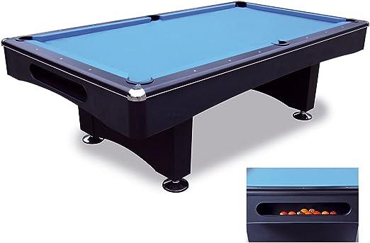 Bandito Pool - Mesa de billar, color negro / azul, talla 230 x 131 cm: Amazon.es: Jardín