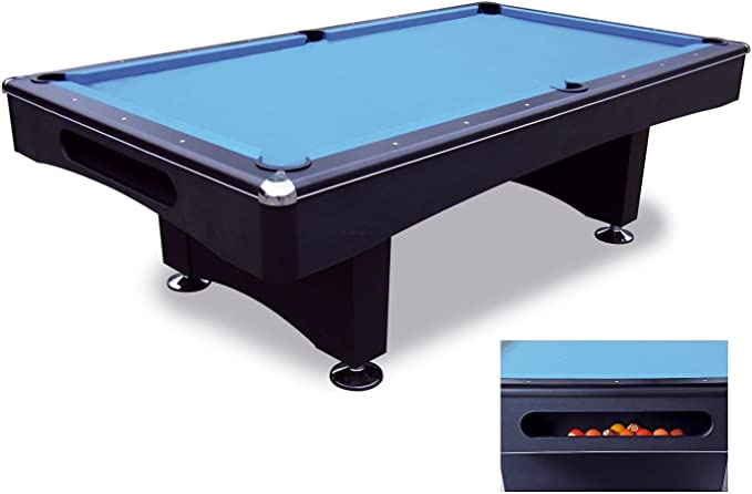 Bandito Pool - Mesa de billar, color negro / azul, talla 230 x 131 cm: Amazon.es: Jardín