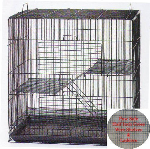Two Size, 3 Level Ferret Chinchilla Sugar Glider Rats Animal Cage With 1/2 Inch Cross Shelves and Ladders by Mcage (Image #6)