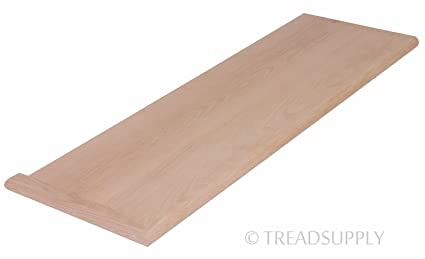 Delicieux 42u0026quot; Red Oak Stair Tread   Right Return   Unfinished, ...