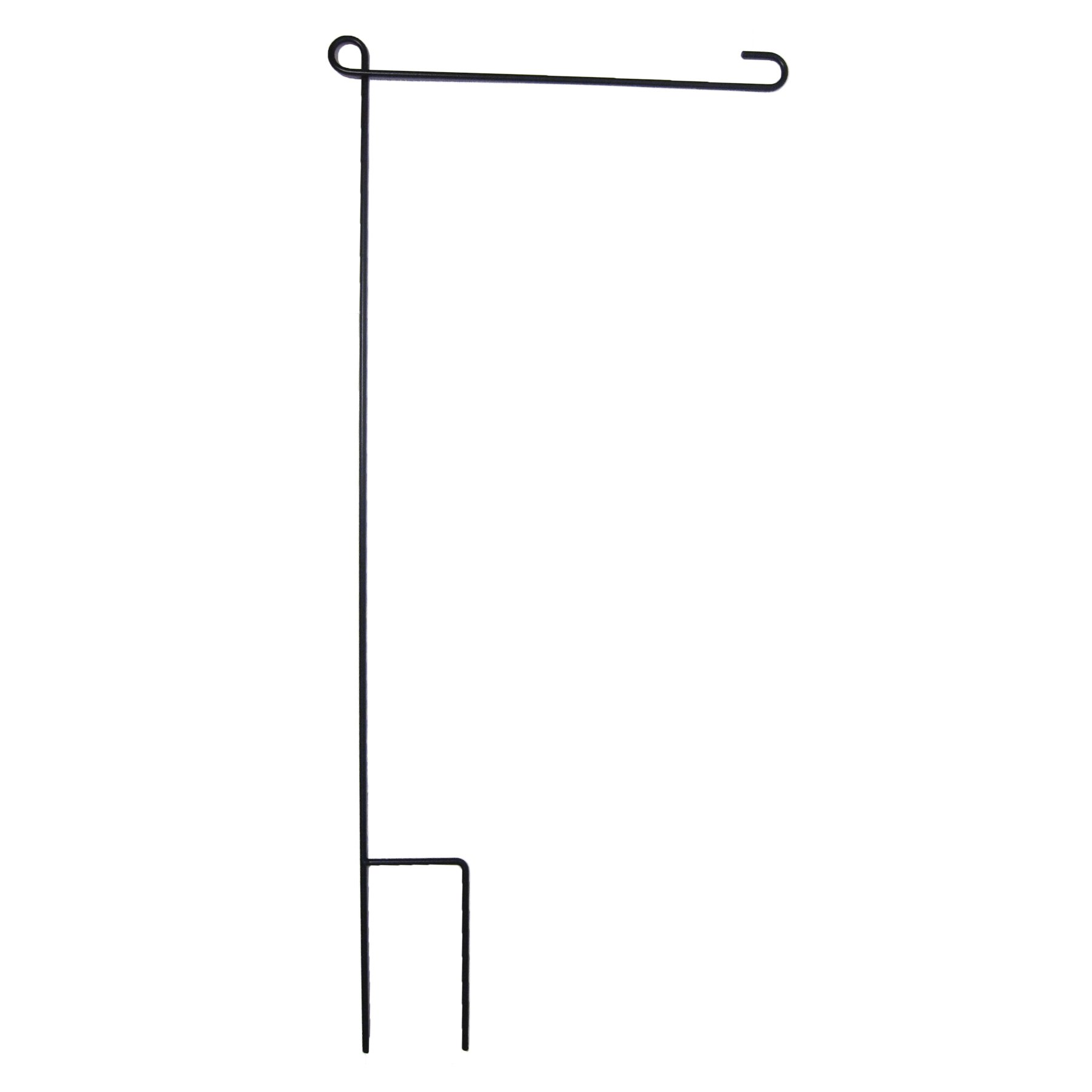 In the Breeze Garden Flag Pole - 40 Inches High by 16 Inches Wide - Solid One Piece Pole - No Assembly Required - Color: Black