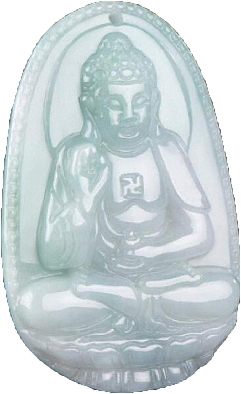 Colgante de amuleto de la deidad del zodiaco de jade natural