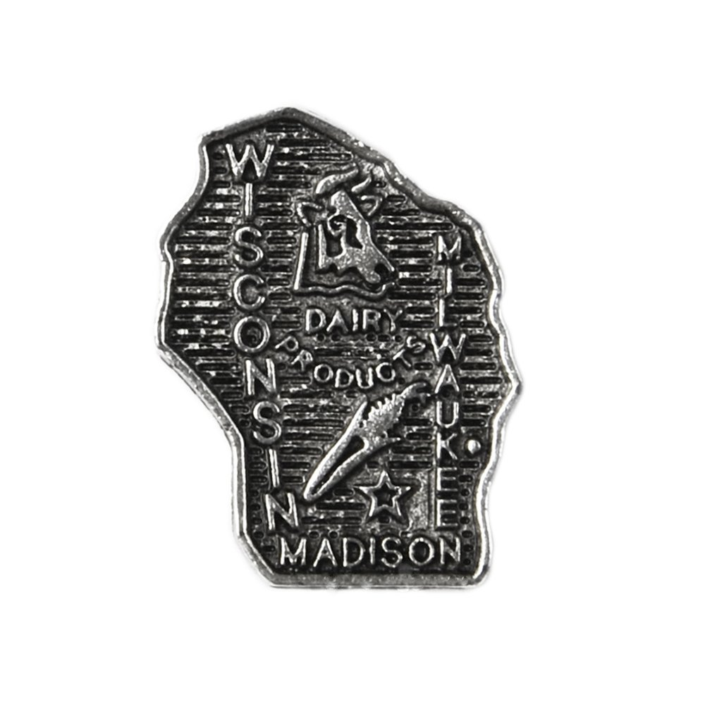 Quality Handcrafts Guaranteed Wisconsin Lapel Pin