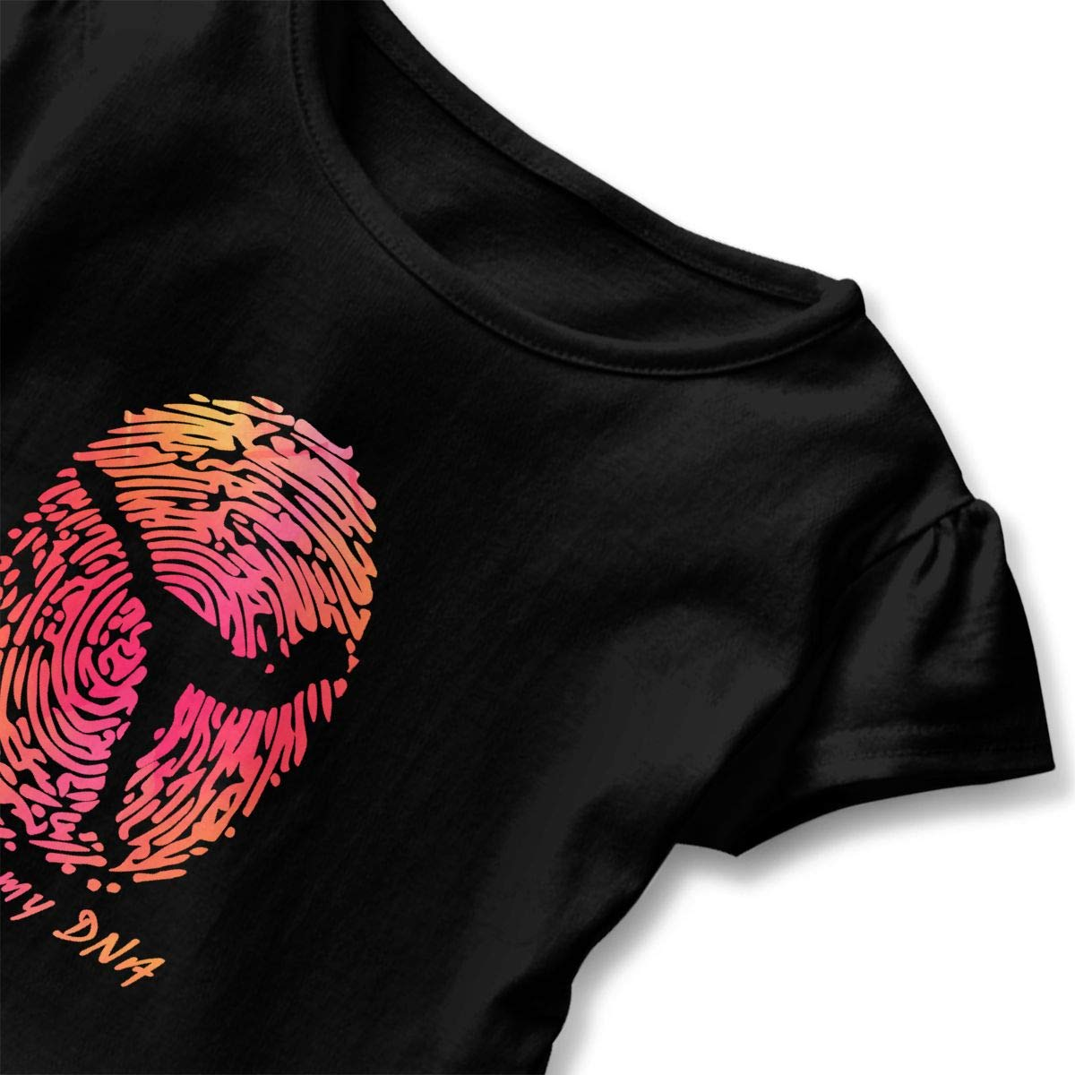 CZnuen Figure Skating Its in My DNA Baby Girls Round Neck Short Sleeve Ruffle T-Shirt Top