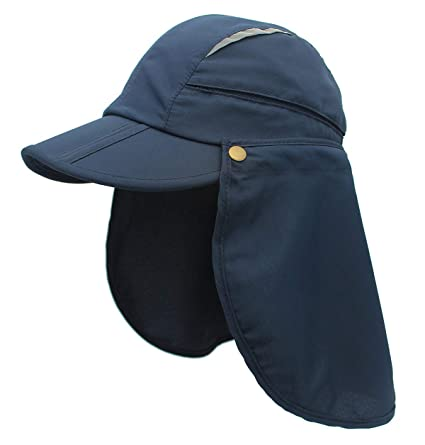 b8a120708f8fe Teenager s Outdoor Fishing Hat 360° Protection UPF 50+ Sun Hat Removable  Neck Flap Cycling