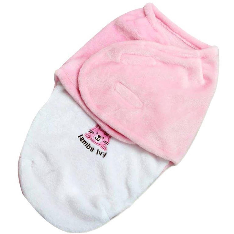 Amazon Com Brandonn Envelope Blanket Cum Wrapper For Babies Pink